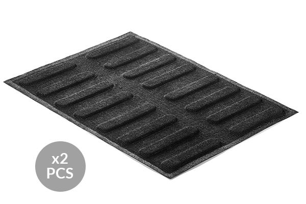 AIR PLUS 11 - SET 2 PZ STAMPO IN SILICONE N.16 ECLAIR 25x125 h 5 MM