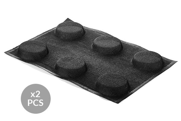 AIR PLUS 14 - SET 2 PZ STAMPO IN SILICONE N.6 ROUND ø85 H 20 MM