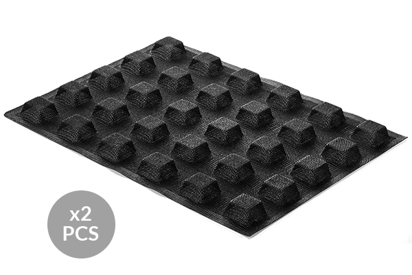 AIR PLUS 20 - SET 2 PZ STAMPO IN SILICONE N.30 SQUARE 35X35 H 16 MM