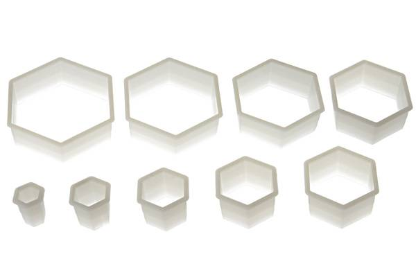 Nylon Cutter 06 Regular Hexagon da 3x2.5 cm a 12x10 cm