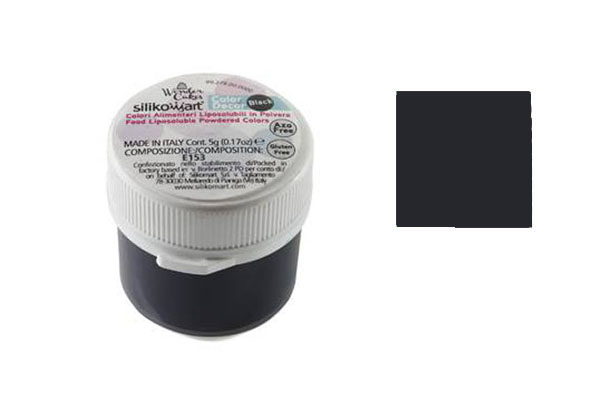 CLD008 - COLORANTE ALIMENTARE IN POLVERE LIPOSOLUBILE 5 GR NERO